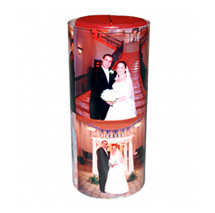 Photo Glass Candle