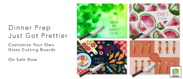 Custom Glass Cutting Boards on Sale Now Until October 12 - As low as 14.95