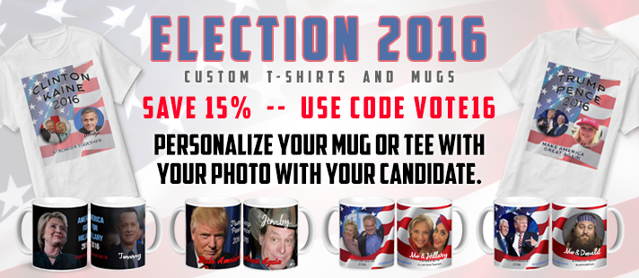 Get your election mugs and tees